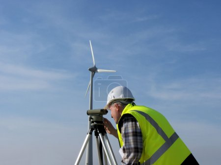 Surveyor and wind turbine