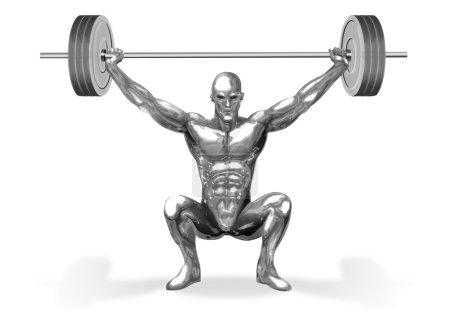 Chromeman Weight Lifter