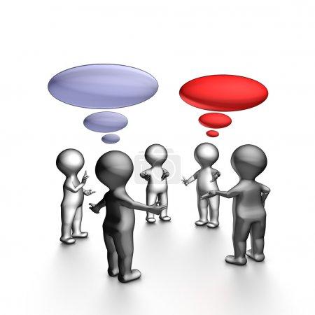 Photo pour Réunion de stand-up agile est une réunion quotidienne de l'équipe. l'objectif est de fournir un statut pour les membres de l'équipe. - image libre de droit