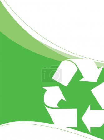 Illustration for A background layout themed around recycling and environmentalism. Great for going green! - Royalty Free Image