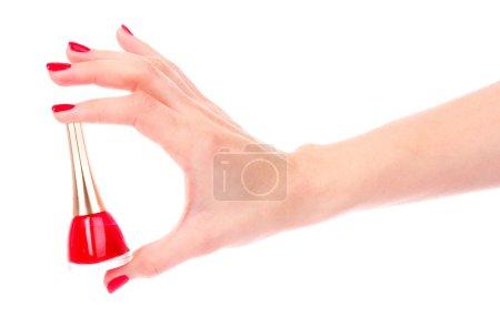 Beautiful red manicure