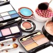 Many professional cosmetics for make up...