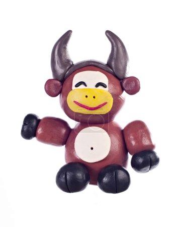 Symbols of the Chinese horoscope. Plasticine ox...