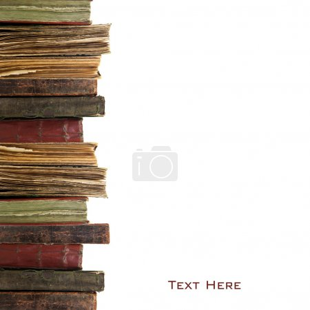 Photo for Three old books on white background - Royalty Free Image