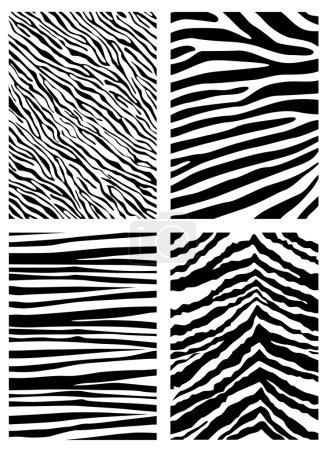 Illustration for Set of zebra pattern - Royalty Free Image