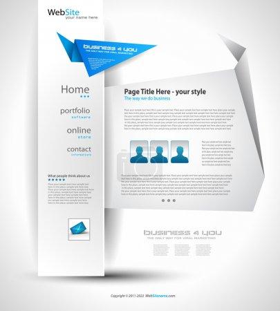 Origami Website - Elegant Design
