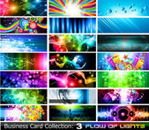 Abstract Business Card Collection: Flow of lights - Set 3