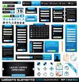 Web design elements extreme collection 2 BlackBlue