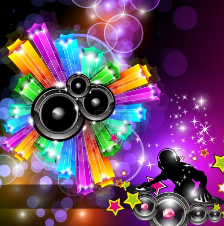 Music Disco Flyer for Dancing Events