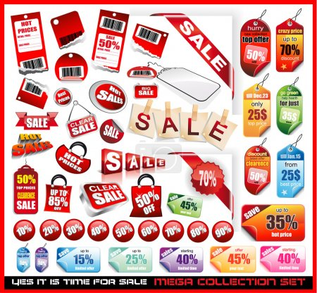 Foto de Yes it's time to sale! Sale Tags Mega Collection Set with a lot of design elements - Imagen libre de derechos