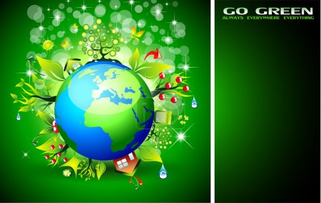 Go Green Ecology Background for