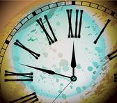 Illustration of Vintage Distressed Clock Surface Macro