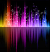 Futuristic Rainbow Lights Background for Poster of Flyers