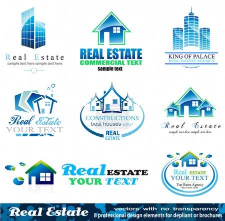 Illustration for Real Estate Design Elements - Set 1 - Royalty Free Image