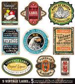 Vintage Labels Collection -Set 5